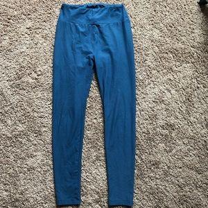 Pants - Lularoe One Size Blue Leggings